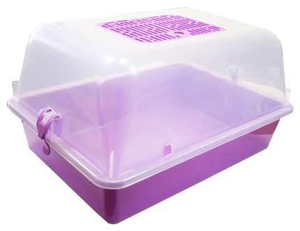 Террариум для рептилий, черепах ZooExpress, фиолетовый, 42 x 22,5 x 30,5 см