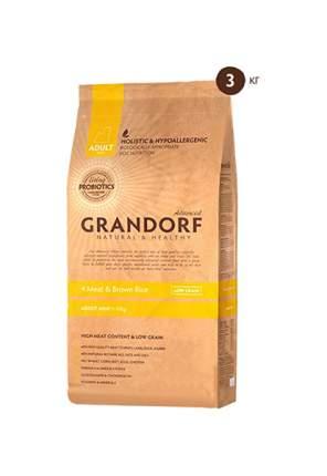Сухой корм для собак Grandorf Living Probiotics Adult Mini, 4 вида мяса и бурый рис, 3кг