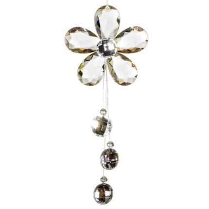 Елочная игрушка Crystal Deco Цветок Прозрачный 162803 18 см 1 шт.