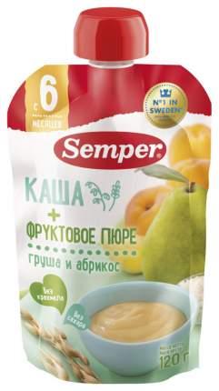 Пюре фруктовое Semper Грушево-абрикосовое с кашей с 6 мес 120 г