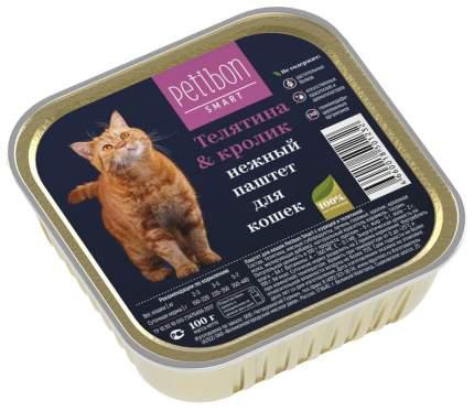 Влажный корм для кошек Petibon Smart, телятина и кролик, 100г