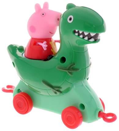Каталка детская Intertoy Peppa Pig Луна-парк Динозавр с фигуркой Пеппы Росмэн 31012