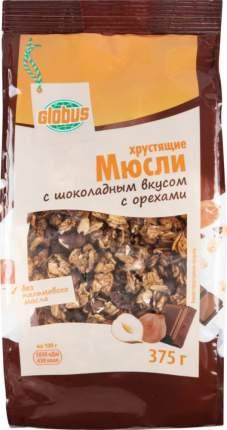 Мюсли хрустящие  Глобус с шоколадным вкусом с орехами 375 г