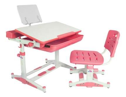 Комплект детской мебели Mealux Парта и стул EVO-04 XL розовый