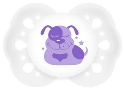 Соска-пустышка Lubby силикон Симметричный сосок (с 0 мес) для сна
