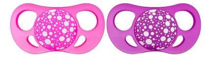 Пустышка силиконовая С 6 мес розово-фиолетовая 2 шт. Twistshake