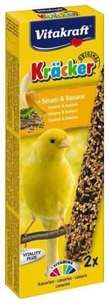 Лакомства для птиц Vitakraft Крекеры для канареек кунжут с бананом, 2 шт