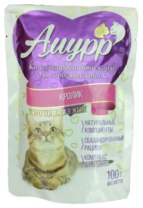 Влажный корм для кошек Амурр кролик 100 г 24 шт