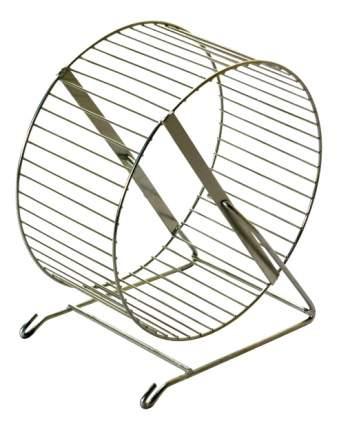 Беговое колесо для грызунов Дарэлл металл, с перекладинами на подставке, 20 см