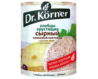 Хлебцы Dr.Korner злаковый коктейль сырный 100 г
