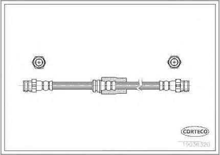 Шланг тормозной Corteco 19036320