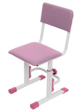 Детский стул для школьника регулируемый Polini Kids City/Polini Kids Smart S, Белый/Роз-ый