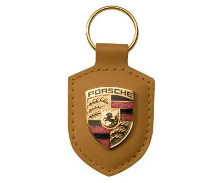 Брелок для ключей с гербом Porsche Crest Keyring WAP0500930E Cognac