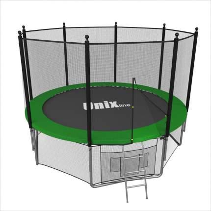 Батут Unix Line Outside с сеткой и лестницей 183 см, green