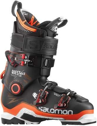 Горнолыжные ботинки Salomon Quest Max 130 2016, black/orange, 26