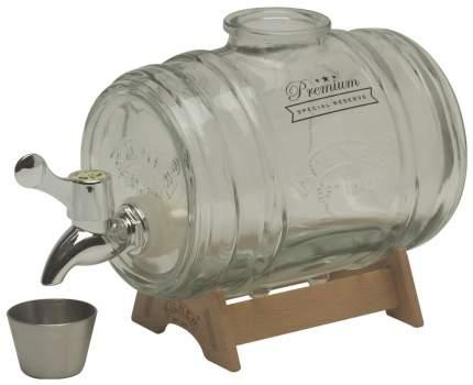 Диспенсер для напитков Barrel на подставке 1 л в подарочной упаковке