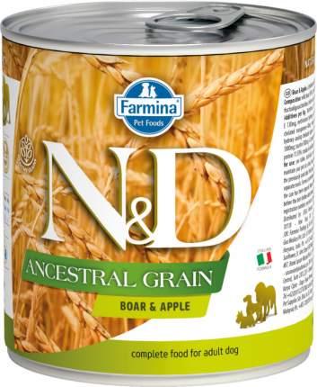 Влажный корм для собак Farmina N&D Ancestral, для всех пород, кабан и яблоко, 285г