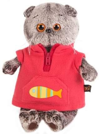 Мягкая игрушка BUDI BASA Басик в красном флисовом жилете, 19 см