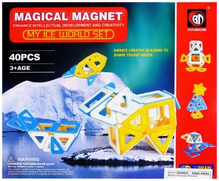 Конструктор магнитный «Ледяной мир», 40 деталей Xinbida