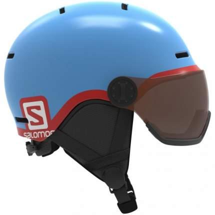 Горнолыжный шлем Salomon Grom Visor 2019 blue, M