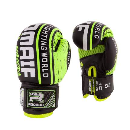Боксерские перчатки детские Roomaif RBG-242 зеленые 6 унций