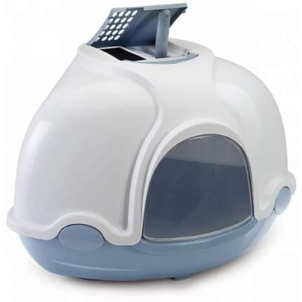 Туалет для кошек IMAC Ginger, угловой, белый, голубой, 50х50х44,5 см