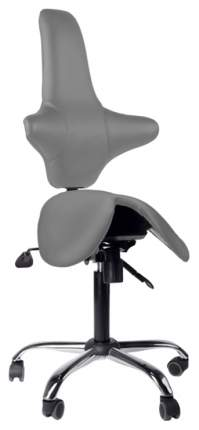 Кресло-седло со спинкой EZSolo Back (цвет обивки: серый)