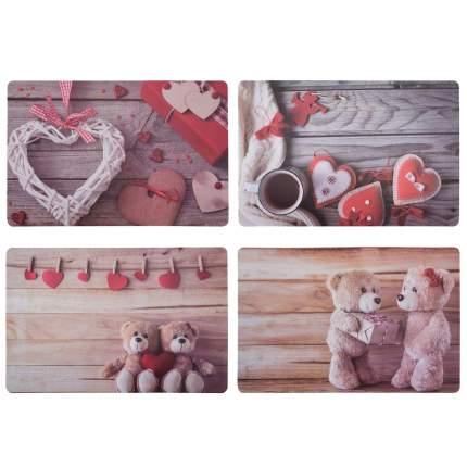 Сервировочные салфетки Счастливые сердечки, 44х29 см (4 шт.), koopman, B04220440