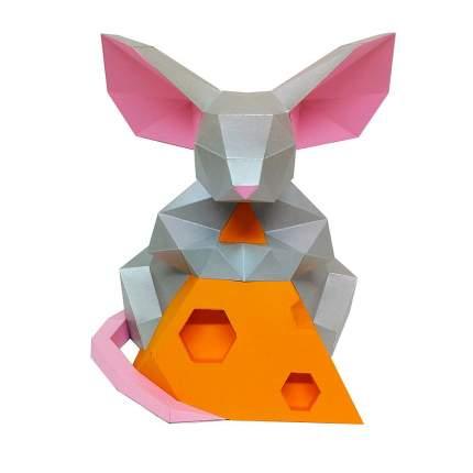 "3D фигура Paperraz ""Мышка с сыром"""