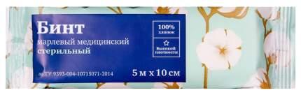 Бинт марлевый PL медицинский нестерильный 5 м х 10 см ТУ 1 шт.
