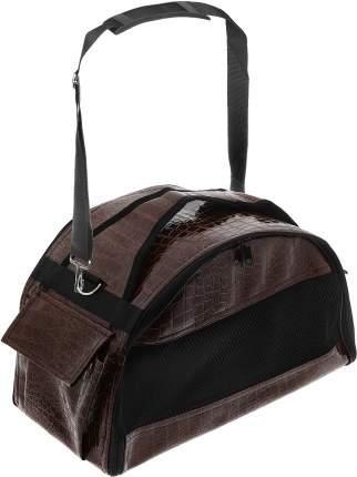 Переноска-сумка для животных Зооник, средняя полукруглая, коричневая, 42х23х25 см