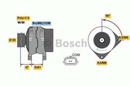 Генератор Bosch 0986080800