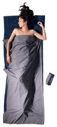 Вкладыш в спальник Cocoon 2 Color Cotton Travelsheet серый 220X90 см