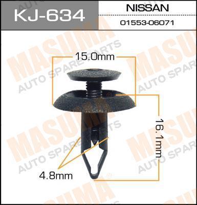 Клипса автомобильная Masuma KJ634