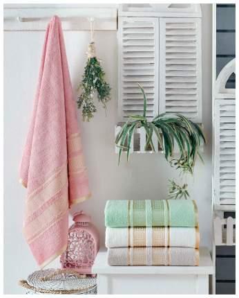Набор полотенец DO&CO pansy белый, зеленый, розовый, фиолетовый