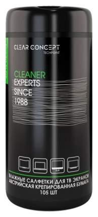 Салфетки влажные Clear Concept 201 для ухода за ТВ экранами, 105 шт