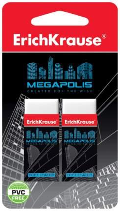 Ластик ErichKrause Megapolis 2 шт. 43924