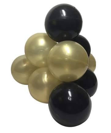Комплект шариков Шик (50шт: золот и черн) для сухого бассейна