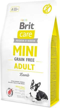 Сухой корм для собак Brit Care Mini Grain Free Adult, для мелких пород, ягненок, 2кг