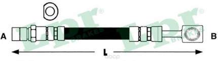 Шланг тормозной системы Lpr 6T46181 передний