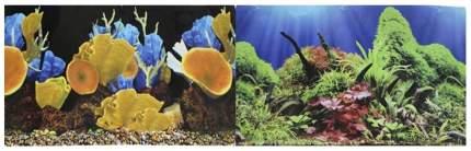 Фон для аквариума Prime Морские кораллы/Подводный мир, винил, 60x30 см