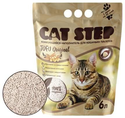 Комкующийся наполнитель для кошек Cat Step Tofu соевый, серый, 1.16 кг, 6 л