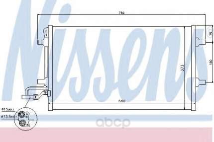 Радиатор кондиционера Nissens 940154