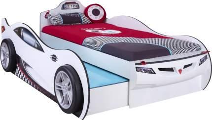 Кровать-машина Cilek Carbed Coupe выдвижнаябелая 90х190/90х180