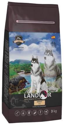 Сухой корм для собак Landor Adult, все породы, рыба и рис, 3кг