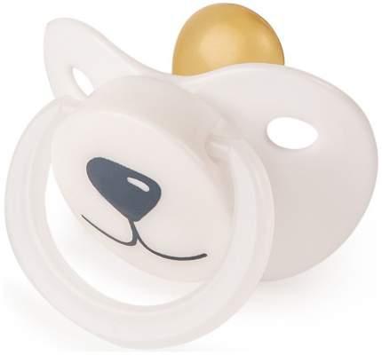 Соска-пустышка Happy Baby Медвежонок ортодонтической формы 0+ Белый