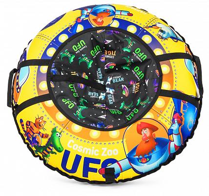 Надувные санки-ватрушка (тюбинг) Small Rider UFO (CZ) желтый, капитан Клюква