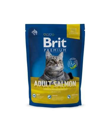 Сухой корм для кошек Brit Premium Adult Salmon, лосось, 0,3кг
