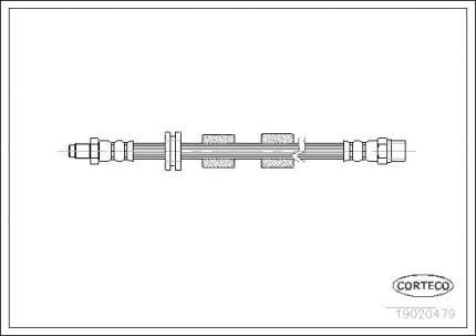 Шланг тормозной CORTECO 19020479