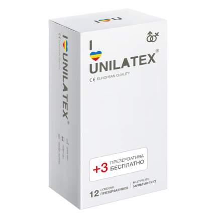 Презервативы Unilatex Multifruit на силиконовой основе
